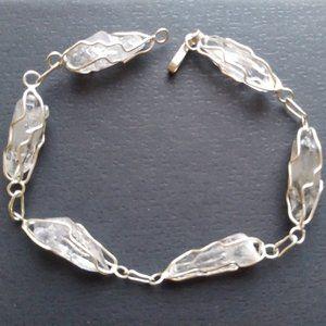 Sterling Silver Rutilated Quartz Crystal Bracelet